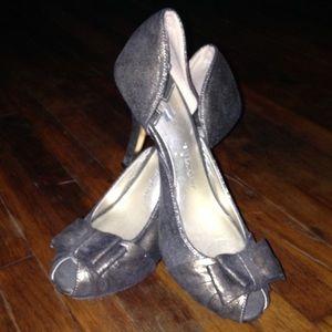 Isabel Toledo Bronze Peep-toe Heels  NWOT